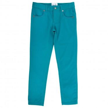 Pantalon slim fit verde bumbac organic certificat GOTS