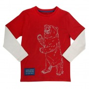 Bluza cu urs grizzly 100% bumbac organic certificat GOTS