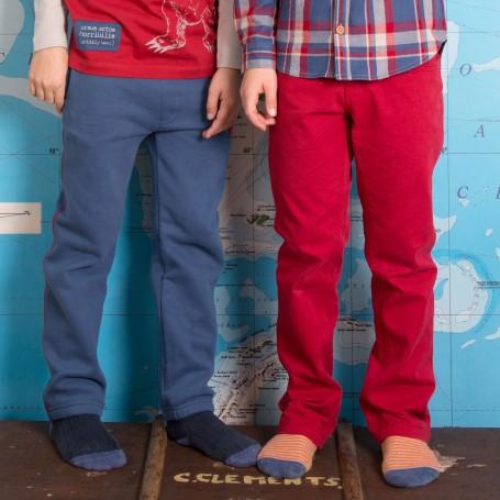 Jeans slim fit rosu 100% bumbac organic certificat GOTS