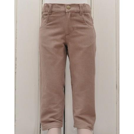Pantaloni slim fit caramel bumbac organic certificat GOTS, FAIR TRADE