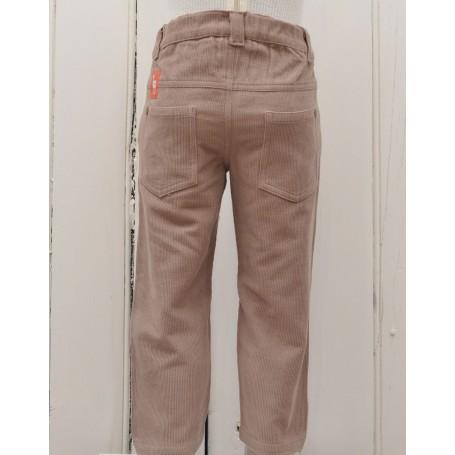 Pantaloni slim fit caramel bumbca organic certificat GOTS, FAIR TRADE