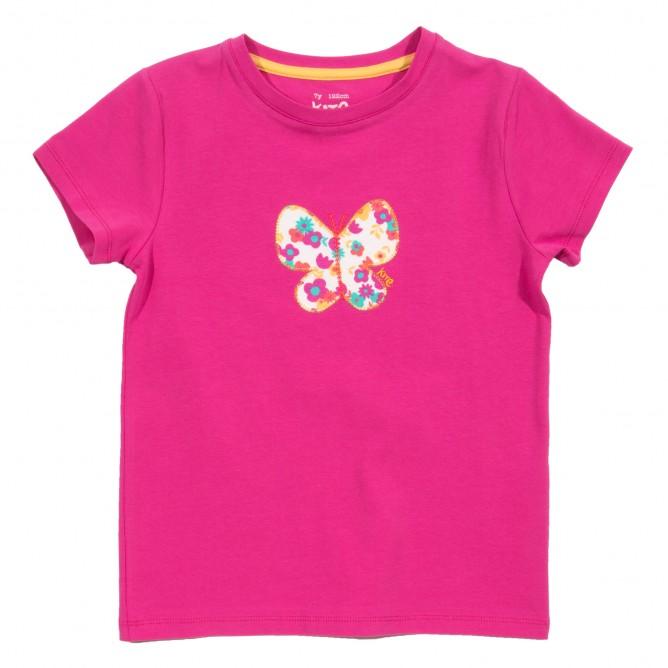 Tricou cu fluture bumbac organic certificat GOTS
