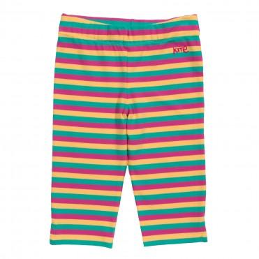 Pantaloni pana la genunchi cu dungi din bumbac organic certificat GOTS