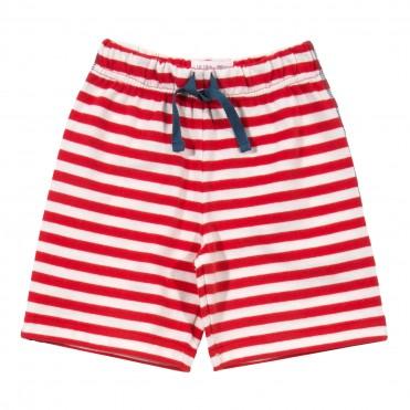 Pantaloni trei sferturi cu dungi 100% bumbac organic certificat GOTS