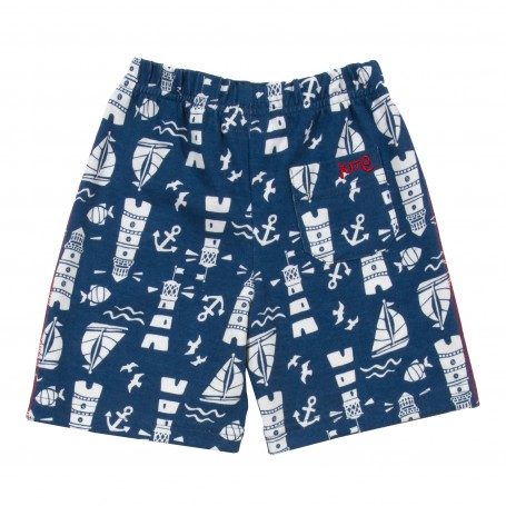 Pantaloni trei sferturi model marin 100% bumbac organic certificat GOTS