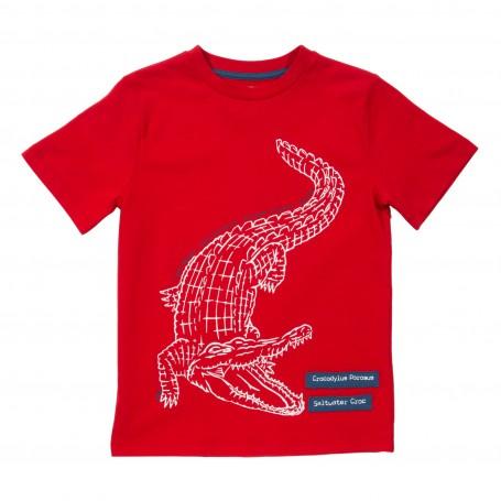 Tricou cu crocodil 100% bumbac organic certificat GOTS