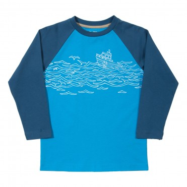 Bluza barcuta la pescuit 100% bumbac organic certificat GOTS