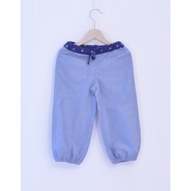 Pantaloni bleu unisex 100% bumbac organic certificat GOTS FAIR TRADE