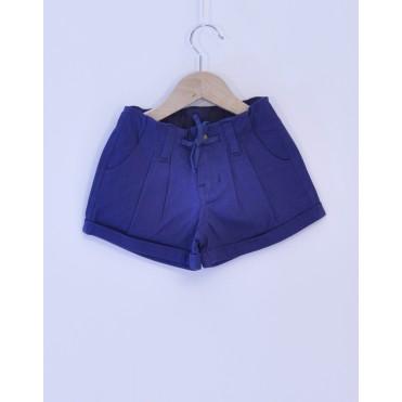 Pantaloni scurti albastri 100% bumbac organic certificat GOTS FAIR TRADE