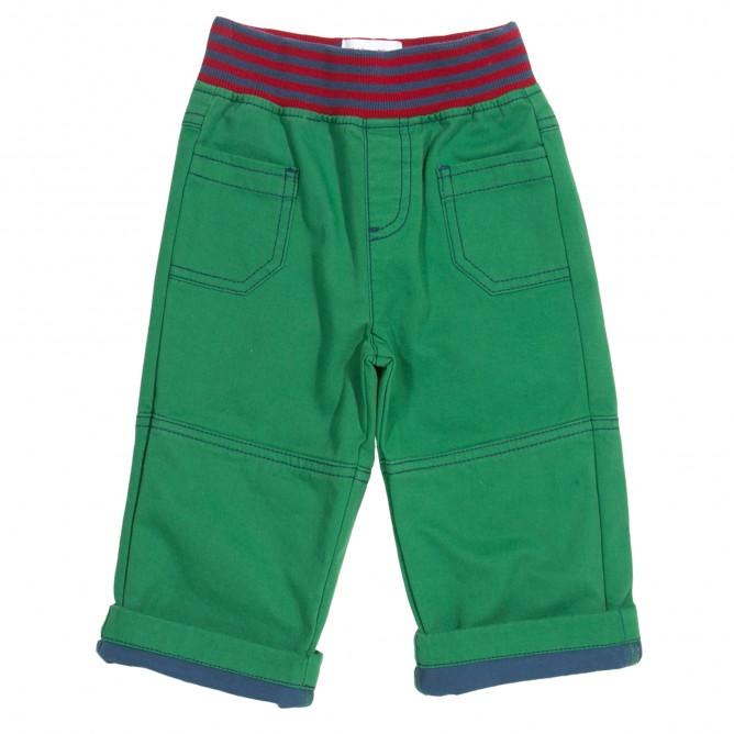 Pantaloni verzi cu mansete 100% bumbac organic