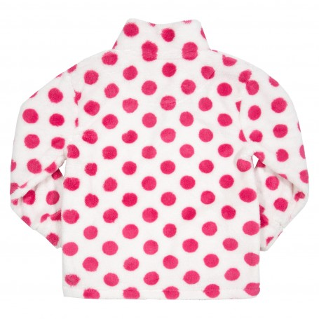 Fleece cu buline roz
