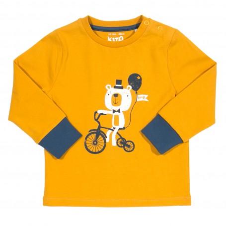 Bluza urs pe tricicleta 100% bumbac organic certificat GOTS