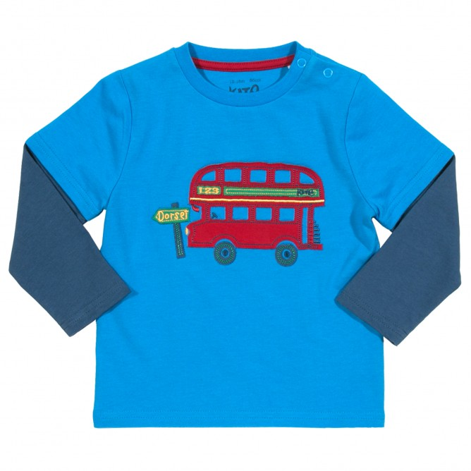 Bluza cu autobuz 100% bumbac organic certificat GOTS