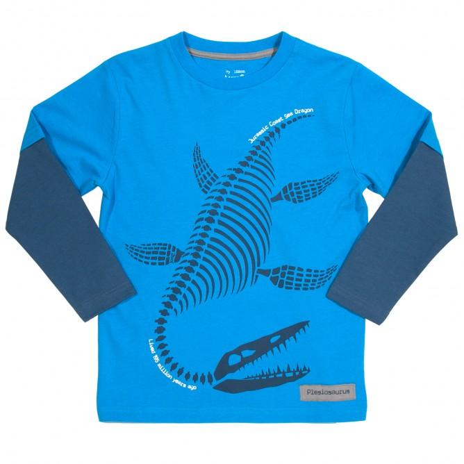 Bluza dinozaur 100% bumbac organic certificat GOTS