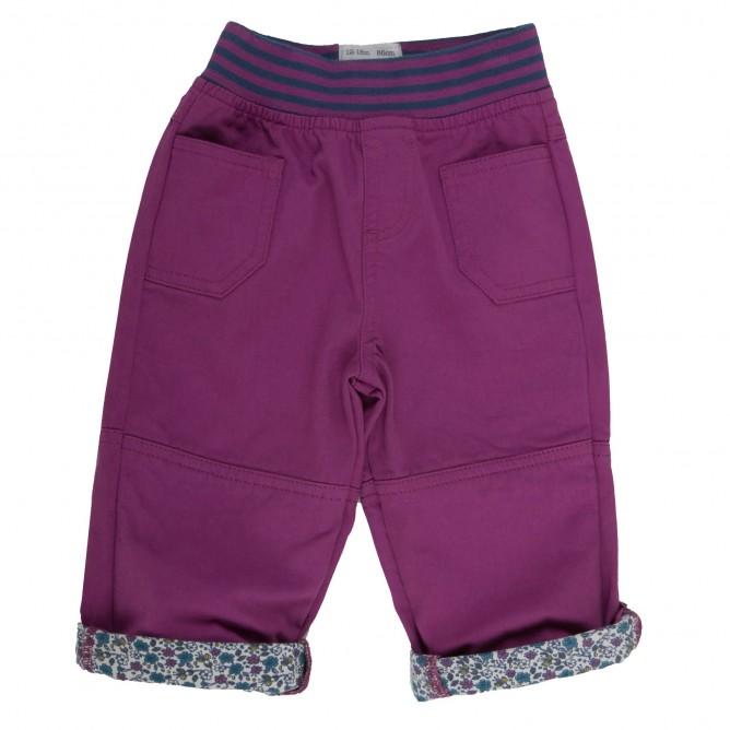 Pantaloni Ditsy 100% bumbac organic certificat GOTS