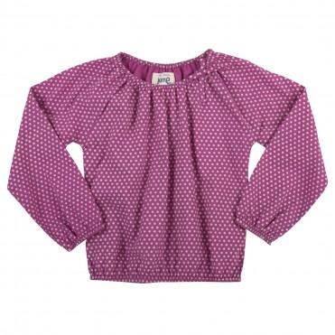 Bluza cu buline 100% bumbac organic certificat GOTS