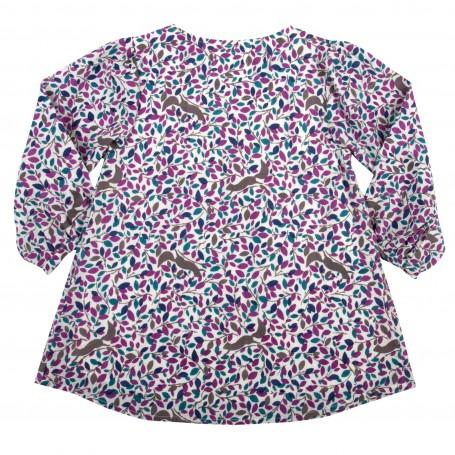 Bluza cu veverite 100% bumbac organic certificat GOTS